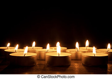 encendió velas