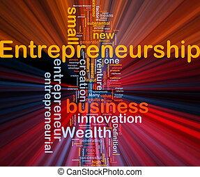 encendido, concepto, empresa / negocio, plano de fondo, entrepreneurship