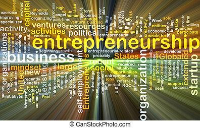encendido, concepto, plano de fondo, entrepreneurship
