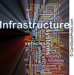 encendido, concepto, plano de fondo, infraestructura
