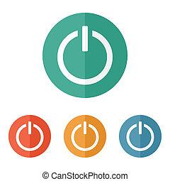 Enciende el icono del botón de encendido