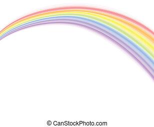 encima, arco irirs, -, vector, blanco