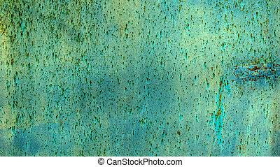 encima de cierre, hoja, plano de fondo, metal, oxidado