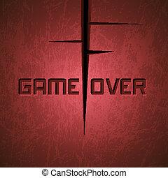 encima, vector, juego, message: