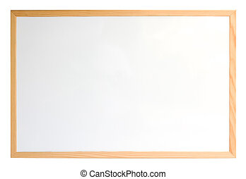 encima, whiteboard, aislado, blanco