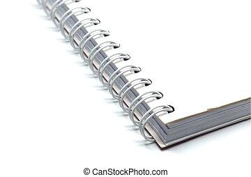 encuadernación, alambre, libro