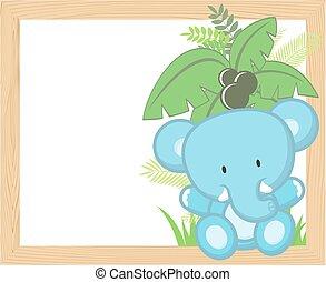 Encuadre de elefante bebé