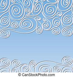 Encuadre de encaje con espirales