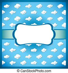 Encuadre de encaje con nubes