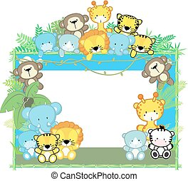 Encuadre de safari de bebé