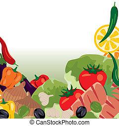 Encuadre de verduras