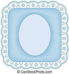 Encuadre fotográfico, encaje blanco