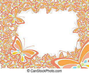 Encuadre mariposa primaveral