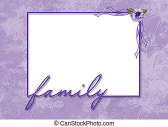 Encuadre púrpura acariciado