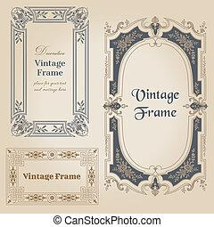 Encuadres antiguos y elementos de diseño... con lugar para tu texto... en vector