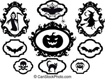 Encuadres de Halloween, vector