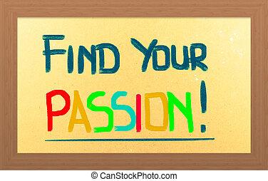Encuentra tu concepto de pasión