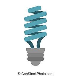 Energía ahorrando bombilla