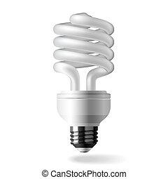 Energía ahorrando bombillas