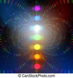 energía, cósmico, resumen, plano de fondo