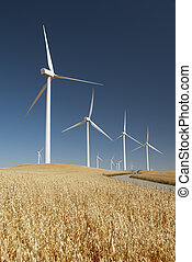 Energía generando molinos de viento