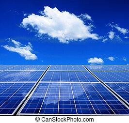 energía, panel solar