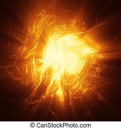 energía, plasma, oragne, plano de fondo