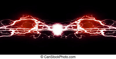 Energía pura y electricidad que simboliza energía