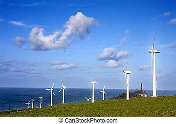 Energía renovable, turbina eólica