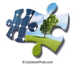 energía, solar, amores, naturaleza