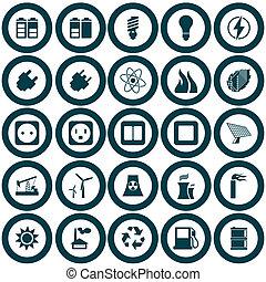 Energía y icono de energía