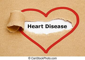 Enfermedad cardíaca desgarrada de papel
