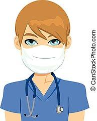 Enfermera blanca