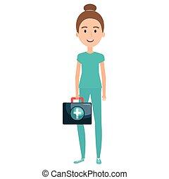 Enfermera con carácter médico