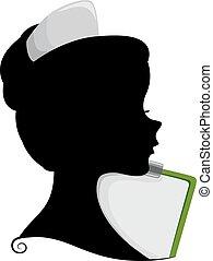 Enfermera Silueta