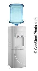 Enfriador blanco con botella de agua