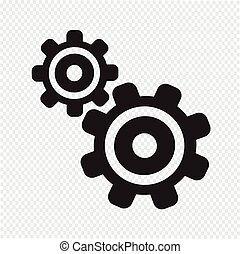 engranaje, icono
