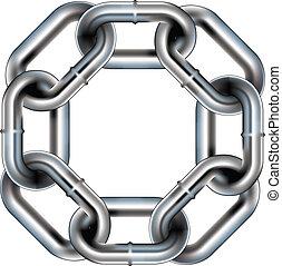 enlace, frontera, seamless, cadena