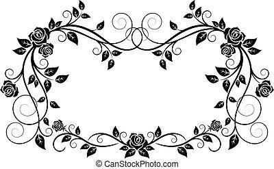 Enmarcado original con flores de rosas