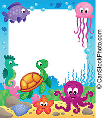 Enmarcar con animales submarinos 3