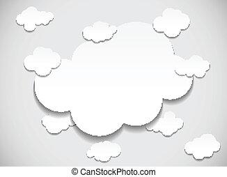 Enmarcar con nubes cortadas
