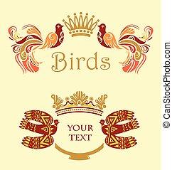 Enmarcar con pájaros