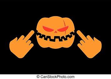 enojado, halloween, terrible, fuck., vegetal, agresivo, feriado, exposiciones, calabaza