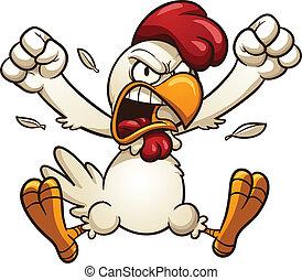 enojado, pollo