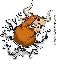 enojado, toro