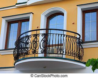 enrejado, forjado, balcón