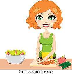 Ensalada de vegetales saludable