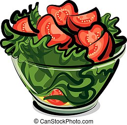 ensalada, tomates