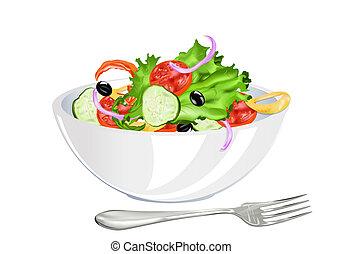Ensalada vegetariana fresca