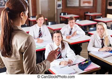 Enseñando en clase